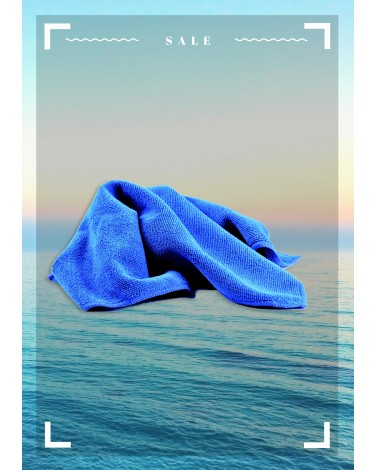 Салфетка из микрофибры Синяя