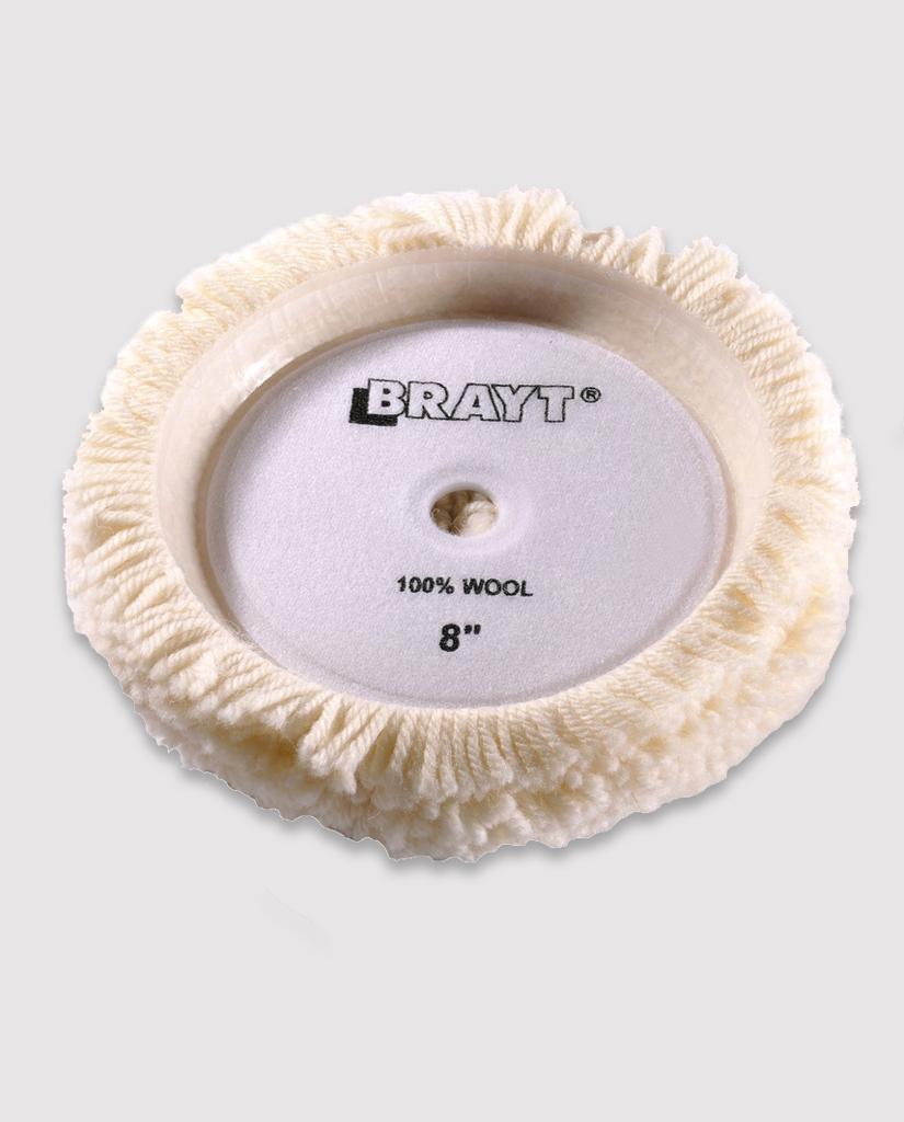 Односторонний меховой полировальник белый